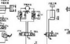 控制元件(二位四通换向阀)的换向和弹簧复位,执行元件(双作用液压缸)图片
